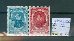 581A-582A  X X    Côte 12.00€ - Belgien