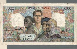 9832  -2018   BILLET FRANCAIS 5 000F  EMPIRE FRANCAIS  8-10-1942 - 1871-1952 Anciens Francs Circulés Au XXème