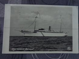 BATEAU CARTE PHOTO PAQUEBOT STELLA POLARIS JUIN 1933 ALESUND - Dampfer