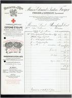 FACTURE 1914 MANUFACTURE DE SAINT REMY CALVADOS FROGER ET GOSSELIN COTON D ETOUPE PANSEMENT - 1900 – 1949