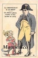 """Humour Satirique  N°8. Guerre 14/18 .La Grenouille & Le Boeuf """"La Chétive Pécore S'enfla Si Bien Qu'elle En Creva"""" - Humoristiques"""