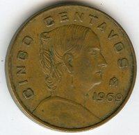 Mexique Mexico 5 Centavos 1969 KM 426 - Mexique