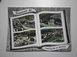 58 Chatillon En Bazois, Souvenir Multivues Aériennes (GF553) - Chatillon En Bazois