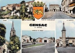 GENSAC - GIRONDE -  (33) - CPSM MULTIVUES 1973.. - Otros Municipios