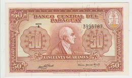 Paraguay 50 Guaranies 1952 Pick 188b UNC - Paraguay
