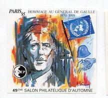 Bloc CNEP N° 21    Paris 95  Hommage Au Général De Gaulle - CNEP