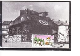 2187 Bastogne - Bataille Des Ardennes (16-12-1944) - 40éme Anniversaire De La Libération De Notre Pays  - Tank - Cartes-maximum (CM)