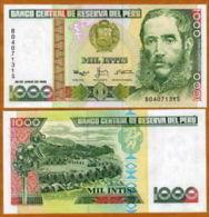Peru 1000 Intis 1988 Pick 136 UNC - Perú