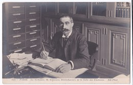 Paris La Sorbonne Mr Estanave Bibliothécaire De La Salle Des Etudiants - Célébrités