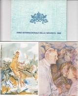 GOOD VATICAN POSTCARDS Set With Original Stamps 1985 - Vatican