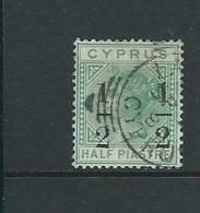 Cyprus Overprint Watermark Crown Ca  Sg29 Vfu - Cyprus (...-1960)