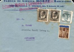 """1937. Carta Circulada Interior Barcelona. Marca """"INDUSTRIA MALTERA Y CERVECERA CATALANA / SOCIALIZADA"""". Muy Rara. Ex Col - 1931-Hoy: 2ª República - ... Juan Carlos I"""