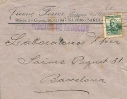 """1937. Carta Circulada En Barcelona. Membrete Impreso """"VICENÇ FERRER, EMPRESA COL-LECTIVITZADA"""". Muy Raro. Ex Col. Félix - 1931-Hoy: 2ª República - ... Juan Carlos I"""