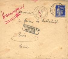 Campo De Gurs. Sobre Enviado A París, El 20/7/39. Matasellos Del Campo. Devuelta Al Remitente. - 1931-Hoy: 2ª República - ... Juan Carlos I