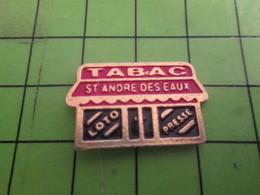 813F Pin's Pins / Rare & De Belle Qualité : THEME MARQUES / TABAC LOTO PRESSE ST ANDRE DES EAUX - Marques