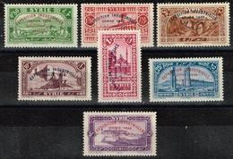 Syrie - 1929 - ,Y&T N° 192 à 198, Neufs Avec Traces De Charnières - Syrie (1919-1945)