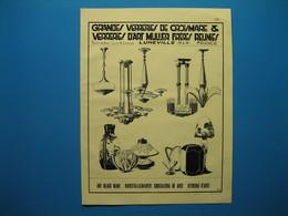 (1933) Grandes Verreries De CROISMARE & Verreries D'Art MULLER FRÈRES Réunies à Lunéville -- Cristalleries De NANCY - Zonder Classificatie