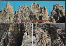 DOLOMITI DI BRENTA - LA VIA DELLE BOCCHETTE - EDIZ. HERMES - VIAGGIATA 1986 FRANCOBOLLO ASPORTATO - Alpinisme