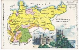 Carte Géographique De L'Allemagne D'avant La Guerre 14/18 - Alemania