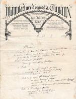 MANUFACTURE D'ORGUES à TUYAUX - 1928 - CAEN - Paul KOEUIG - - Documents Historiques