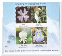 India 2013, Postfris MNH, Flowers - India
