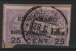 1917 25 C. Su 40 C. Idrovolante Napoli Palermo US - 1861-78 Vittorio Emanuele II