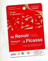 Fiche Visite Passion Exposition Renoir à Picasso - Advertising