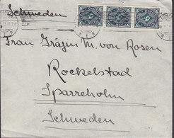 Germany Deutsches Reich TMS. Cds. MÜNCHEN 1923 Cover Brief Gräfin Von ROSEN SPARRESHOLM ROCKELSTAD Slott Sweden - Allemagne
