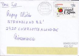 Spain Slogan Flamme GRANADA 2013 Cover Letra Strandlund 82, CHARLOTTENLUND Denmark ATM Frama Label Franking - Marcofilia - EMA ( Maquina De Huellas A Franquear)
