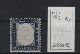 1862 Vittorio Emanuele II 20 C.  MNH - 1861-78 Victor Emmanuel II.