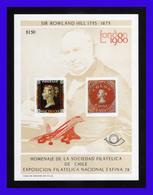 1980 - Chile - Sc. C 28A - Aniversario De Rowland Hill - London80 - Sob. Concorde Rojo - Exfinla 78 - MNH - CHI- 127 - Chile
