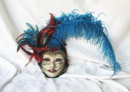 Authentique Masque De Venise En Papier Maché. - Art Populaire