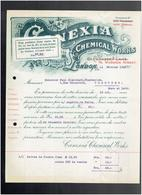 FACTURE 1911 CANEXIA CHEMICAL WORKS 76 WARDOUR STREET LONDON HIGH CLASS CHEMICAL SPECIALITIES - Royaume-Uni