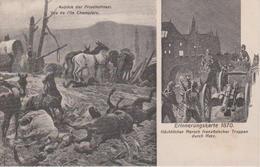 57 - METZ - 2 VUES - VUE DE L'ILE CHAMBIERE ET TROUPES FRANCAISES EN 1870 - Metz