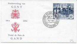 1814 /1964 : 150ème Anniversaire Du Traité De Gent (Gand)  - Tableau Du Peintre Amédée FORESTIER - History
