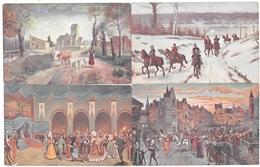 La Vie De JEANNE D'ARC En 10 Tableaux - Série Complète De 10 Cpa Illustrées En Couleurs - Imp. Moullot Marseille - Tbe - Histoire