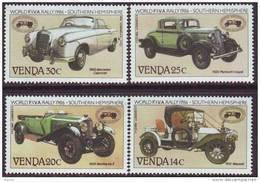 D90819 Venda South Africa 1986 MOTOR CARS RALLY MNH Set - Afrique Du Sud Afrika RSA Sudafrika - Venda