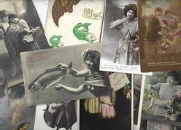 Lot N° 1554 De 10 CPA 9 X 14 Poisson D'avril Premier Avril Déstockage Pour Revendeurs Ou Collectionneurs - Postales