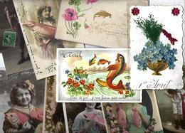 Lot N° 1555 De 10 CPA 9 X 14 Poisson D'avril Premier Avril Déstockage Pour Revendeurs Ou Collectionneurs - Postales