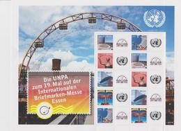 United Nations Vienna Mi 592-596 Greeting Stamps - Essen International Stamp Show - Full Sheet - 2009 * * - Wenen - Kantoor Van De Verenigde Naties