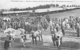 CP MORTAGNE CONCOURS HIPPIQUE JUIN 1908 PRESENTATION DES CHEVAUX - Mortagne Au Perche