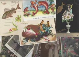 Lot N° 1558 De 10 CPA 9 X 14 Poisson D'avril Premier Avril Déstockage Pour Revendeurs Ou Collectionneurs - Cartes Postales