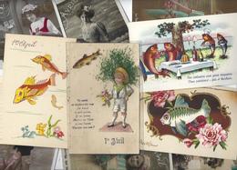 Lot N° 1559 De 10 CPA 9 X 14 Poisson D'avril Premier Avril Déstockage Pour Revendeurs Ou Collectionneurs - Cartes Postales