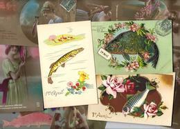 Lot N° 1560 De 10 CPA 9 X 14 Poisson D'avril Premier Avril Déstockage Pour Revendeurs Ou Collectionneurs - Cartes Postales