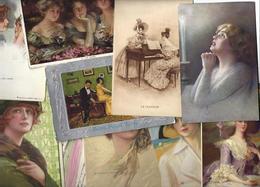 Lot N° 1561 De 10 CPA 9 X 14 Femmes Girl Woman Déstockage Pour Revendeurs Ou Collectionneurs - Postales