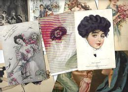 Lot N° 1562 De 10 CPA 9 X 14 Femmes Girl Woman Déstockage Pour Revendeurs Ou Collectionneurs - Postales