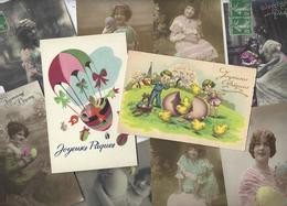 Lot N° 1563 De 10 CPA 9 X 14 Paques Oeuf Fantaisies Déstockage Pour Revendeurs Ou Collectionneurs - Postales