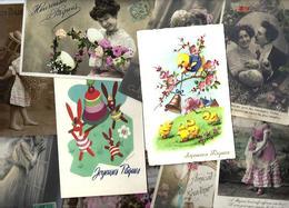 Lot N° 1564 De 10 CPA 9 X 14 Paques Oeuf Fantaisies Déstockage Pour Revendeurs Ou Collectionneurs - 100 - 499 Cartes