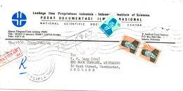 INDONESIE. N°879 De 1980 & N°918 De 1981 Sur Enveloppe Ayant Circulé. Président Suharto. - Indonesia