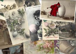 Lot N° 1565 De 10 CPA 9 X 14 Paques Oeuf Fantaisies Déstockage Pour Revendeurs Ou Collectionneurs - Cartes Postales